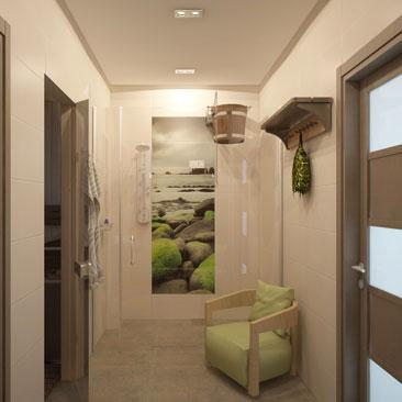Дизайн интерьера бани, сауны: фото.