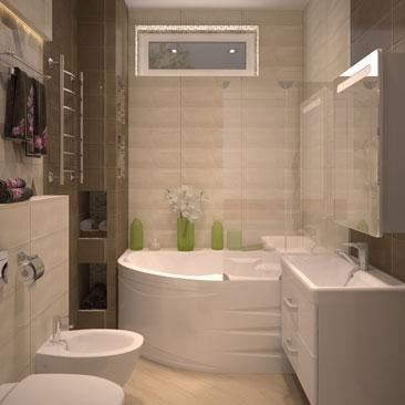 Цокольные ванные и туалеты - фото и проекты.