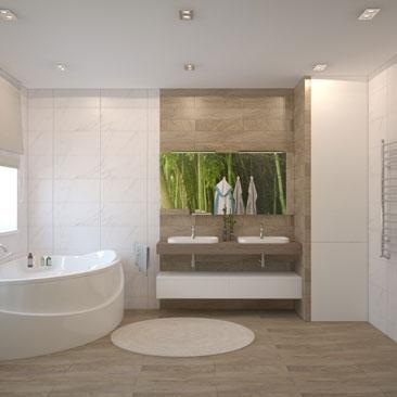 Просторные ванные и туалеты - фото и проекты.