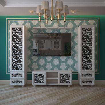 Гостиная зона первого этажа коттеджа. Дизайн. Интерьер.