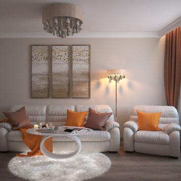 Идеи дизайна маленькой гостиной.