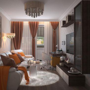 Современная гостиная с элементами классики. Дизайн небольшой гостиной.
