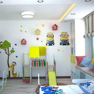 Миньоны. Дизайн детской. Фото.