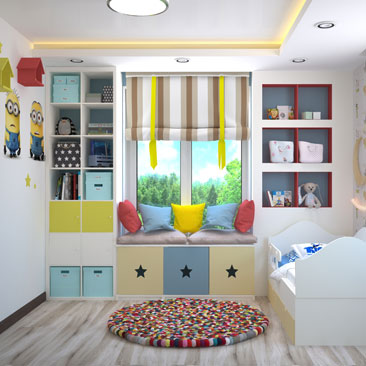 Маленькая детская комната - дизайн, фото.