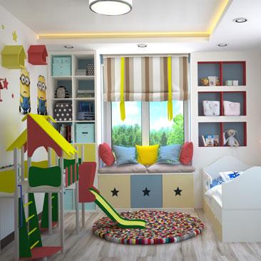 Проект: уютная детская комната фото.