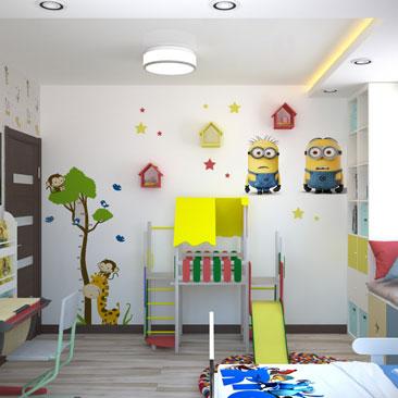 Детская комната с миньонами - фото.