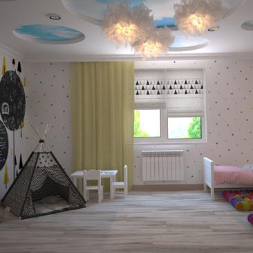 Детская комната для мальчика и девочки: дизайн, фото.