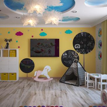 Дизайн детской для мальчика и девочки вместе фото.