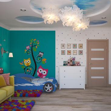 Дизайн детской для мальчика и девочки вместе.
