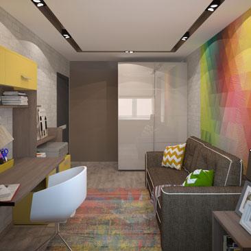 Комната для подростка, проектирование, дизайн, идеи.