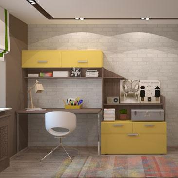 Лофт. Дизайн комнаты для подростка.