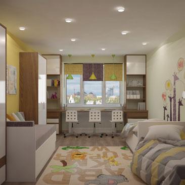 Идеи детской комнаты для двоих детей.