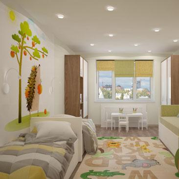 Дизайн для детской комнаты для двоих детей: идеи, фото, проекты.