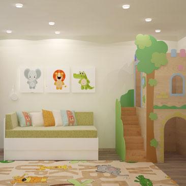 Детская комната для двух детей - фото примеров.