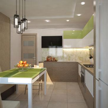 Дизайн кухни в эко-стиле.