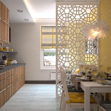 Дизайн-проект интерьера кухни.