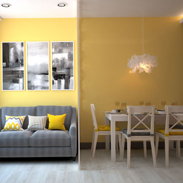 Желтая кухня: дизайн, фото.