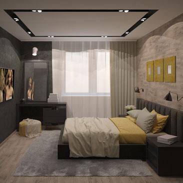 Спальня в стиле лофт - фото, идеи декора и оформления.