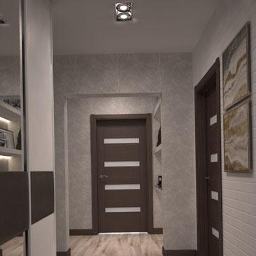 Интерьер в прихожей в квартире - проекты.