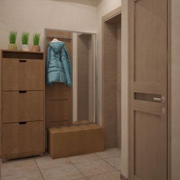 Лаконичный дизайн прихожей в квартире.