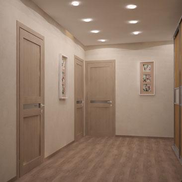 Интерьер холла в квартире.