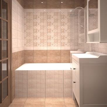 Ванная в стиле «пэчворк» фото.