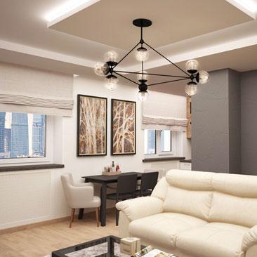 Интерьер гостиной в светлых тонах: дизайн и фото.