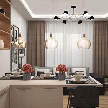 Кухня гостиная в квартире.