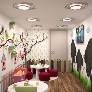 Многоцелевой зал в детском центре в Москве.