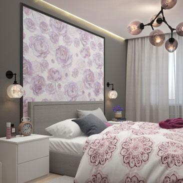 Серая спальня - проект необычного интерьера.