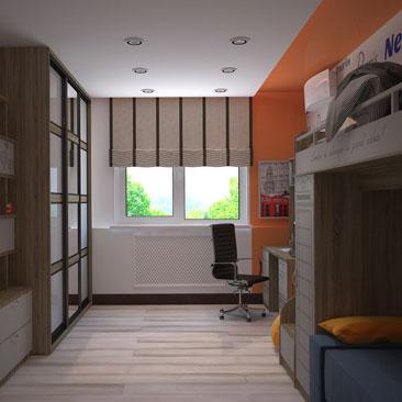 Проекты детских комнат: фото.