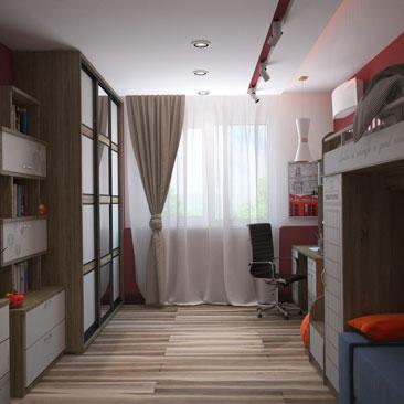 Интерьер детской комнаты - проектирование.