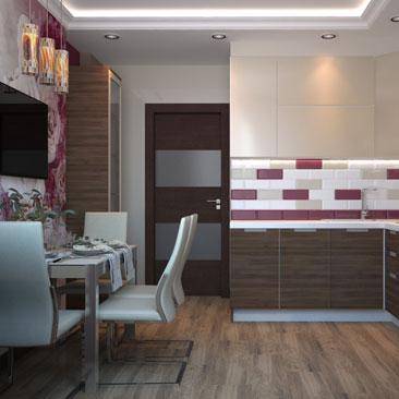 Создаем интерьеры кухни в современном стиле.