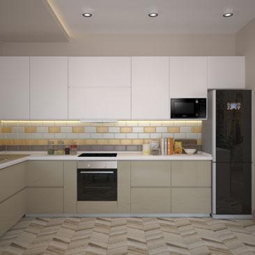 Дизайн интерьера кухни в современном стиле.