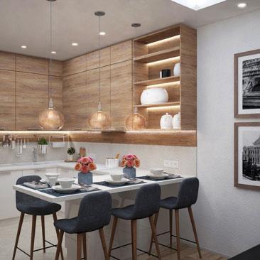 Дизайн кухни в современном стиле.