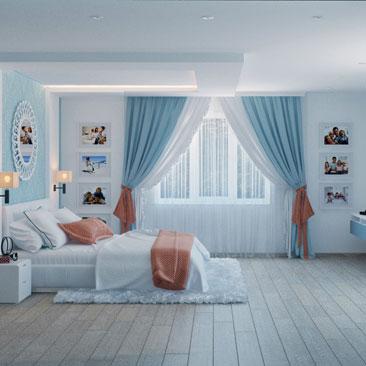 Голубая спальня.
