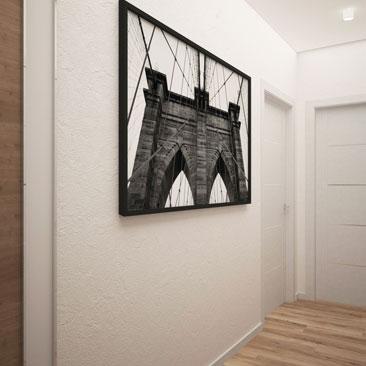 Белый коридор в квартире дизайн - фото.