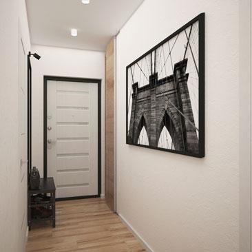 Дизайн белого коридора и прихожей.