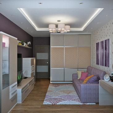 Дизайн маленькой гостиной комнаты 2018.
