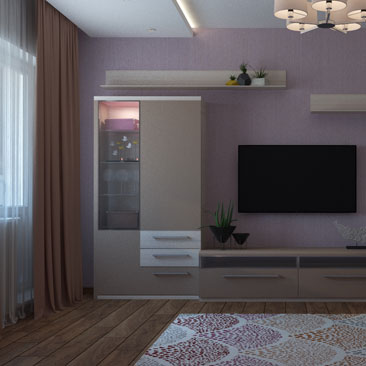Интерьер небольшой гостиной в маленькой квартире.