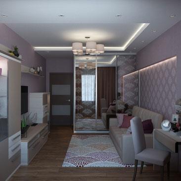 Небольшая гостиная - дизайн-проект.
