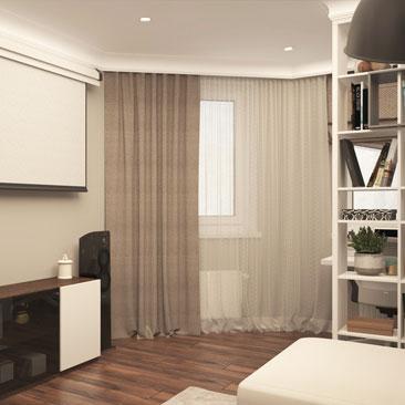 Интерьер гостиной в современном стиле.