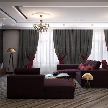 Оформление интерьера гостиной 2018