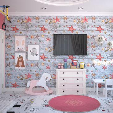 Проектирование детских комнат 2018.