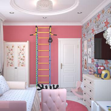 Дизайн-проекты детских комнат 2018.