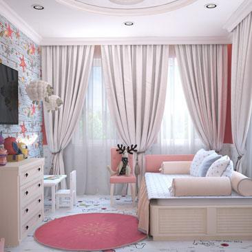 Дизайн детских комнат 2018.