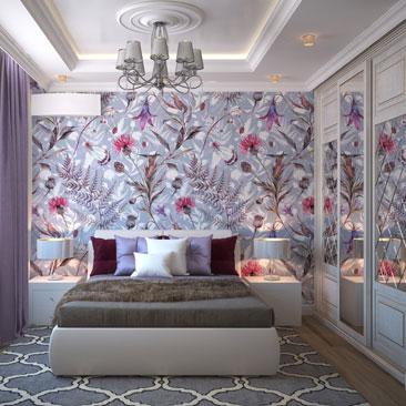 Проекты спальных комнат 2018.