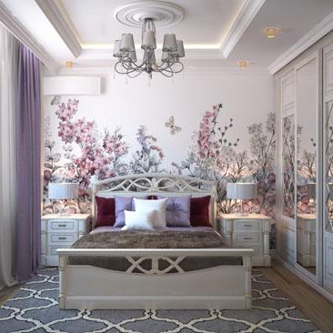Красивые спальни 2018.