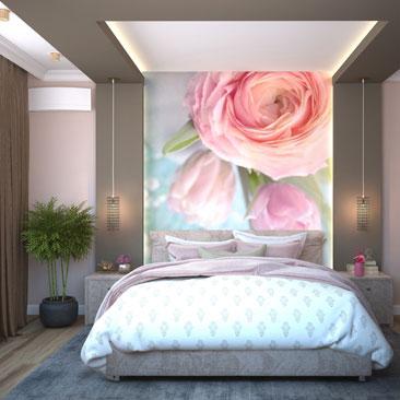 Спальня с цветами.