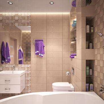 Бежевая ванная комната: фото с примерами дизайна.
